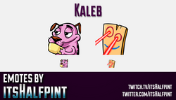 Kaleb  | Twitch Emotes | Cute Emotes | Custom Twitch Emotes | Emote Commissions | itsHalfpint | Mixe