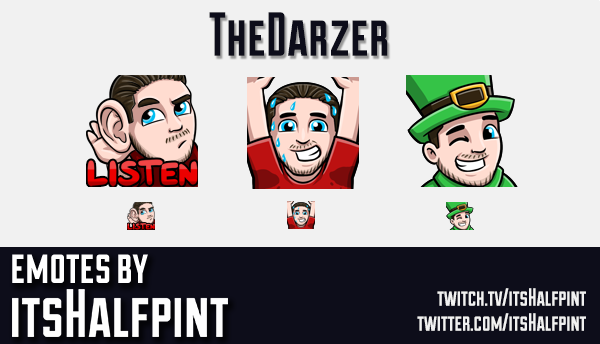 TheDarzer | Twitch Emotes | Cute | Custom | Commissions | itsHalfpint