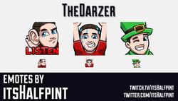 TheDarzer | Twitch Emotes | Cute | Custom | Commissions | itsHalfpint