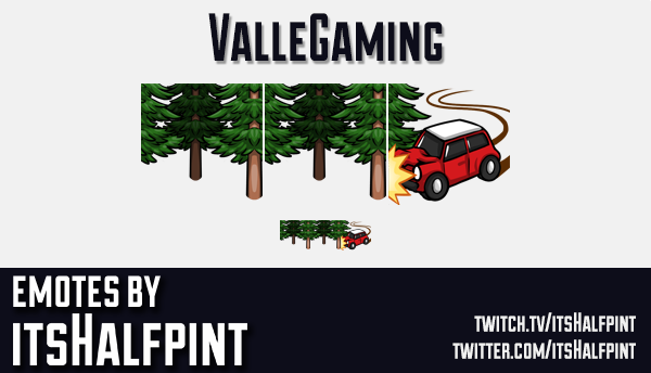 ValleGaming | Twitch Emotes | Cute Emotes | Custom Twitch Emotes | Emote Commissions | itsHalfpint |