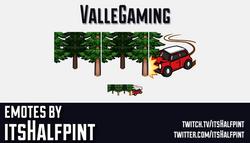ValleGaming | Twitch Emotes | Cute Emotes | Custom Twitch Emotes | Emote Commissions | itsHalfpint |