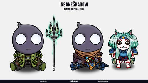 InsaneShadow- Final Fantasy 14 XIV Monster Hunter World Palico Cute Character Illustration