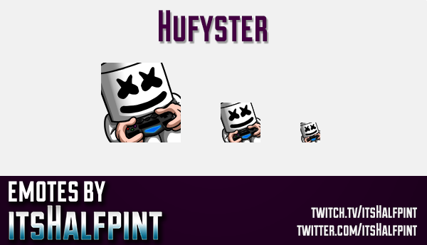 Hufyster  | Twitch Emotes | Cute Emotes | Custom Twitch Emotes | Emote Commissions | itsHalfpint | M