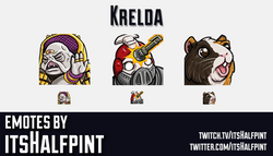 Krelda | Destiny 2  | Twitch Emotes | Cute | Custom | Commissions | itsHalfpint