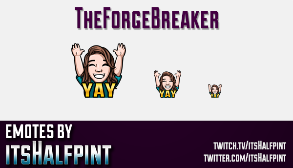 TheForgeBreaker | Twitch Emotes | Cute Emotes | Custom Twitch Emotes | Emote Commissions | itsHalfpi