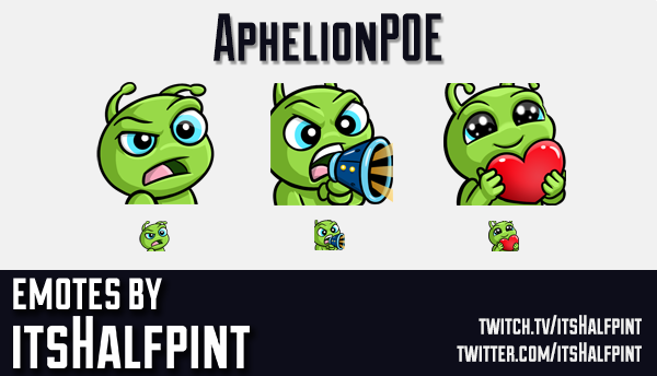 AphelionPOE | Twitch Emotes | Cute | Custom | Commissions | itsHalfpint
