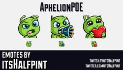 AphelionPOE | Twitch Emotes | Cute | Custom | Commissions | itsHalfpint
