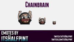 Chainbrain  | Twitch Emotes | Cute Emotes | Custom Twitch Emotes | Emote Commissions | itsHalfpint |