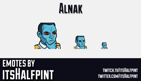 Alnak | Star Wars Admiral Thrawn | Twitch Emotes | Cute | Custom | Commissions | itsHalfpint