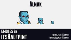 Alnak | Star Wars Admiral Thrawn | Twitch Emotes | Cute | Custom | Commissions | itsHalfpint