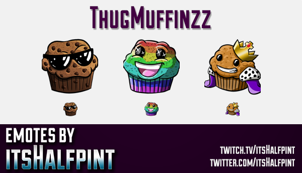 ThugMuffinzz | Twitch Emotes | Cute Emotes | Custom Twitch Emotes | Emote Commissions | itsHalfpint