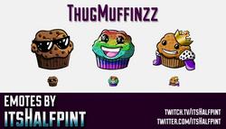 ThugMuffinzz | Twitch Emotes | Cute Emotes | Custom Twitch Emotes | Emote Commissions | itsHalfpint
