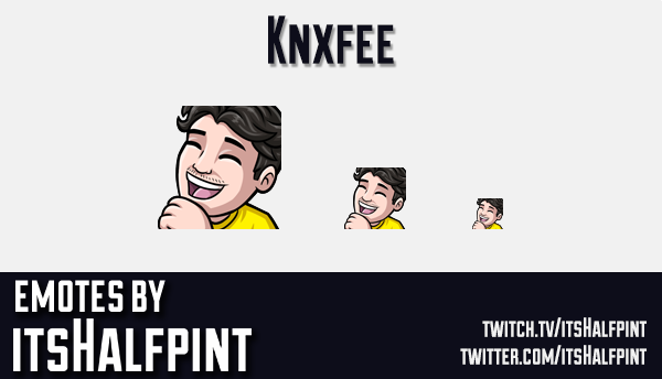Knxfee  | Twitch Emotes | Cute | Custom | Commissions | itsHalfpint