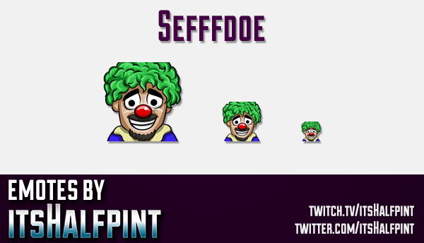 Sefffdoe  | Twitch Emotes | Cute Emotes | Custom Twitch Emotes | Emote Commissions | itsHalfpint | M