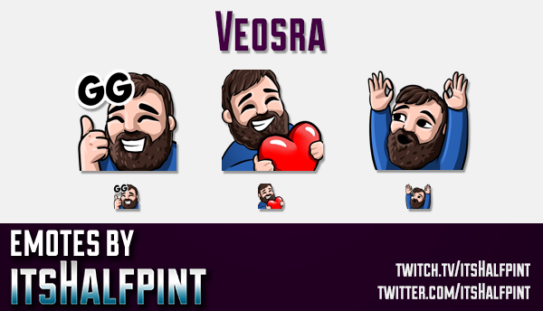Veosra | Twitch Emotes | Cute Emotes | Custom Twitch Emotes | Emote Commissions | itsHalfpint | Mixe