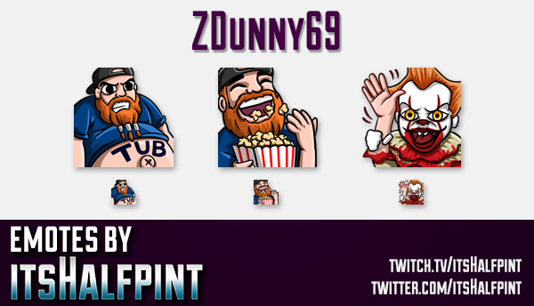 ZDunny69 | Twitch Emotes | Cute Emotes | Custom Twitch Emotes | Emote Commissions | itsHalfpint | Mi