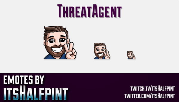 ThreatAgent | Twitch Emotes | Cute Emotes | Custom Twitch Emotes | Emote Commissions | itsHalfpint |