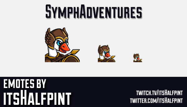 SymphAdventures | Twitch Emotes | Cute Emotes | Custom Twitch Emotes | Emote Commissions | itsHalfpi
