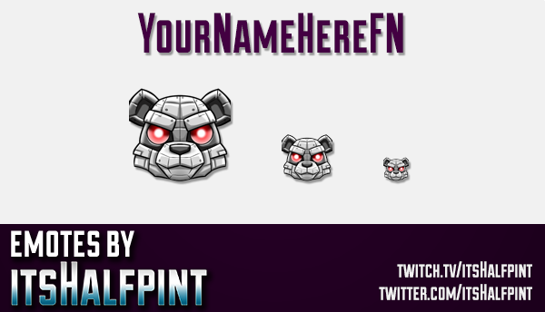 YourNameHereFN | Twitch Emotes | Cute Emotes | Custom Twitch Emotes | Emote Commissions | itsHalfpin