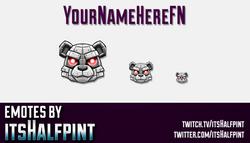 YourNameHereFN | Twitch Emotes | Cute Emotes | Custom Twitch Emotes | Emote Commissions | itsHalfpin