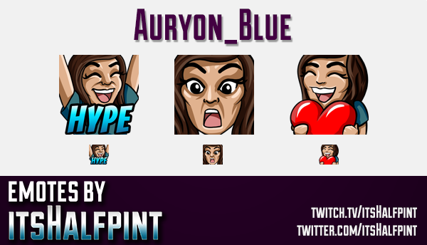 Auryon_Blue | Twitch Emotes | Cute Emotes | Custom Twitch Emotes | Emote Commissions | itsHalfpint |