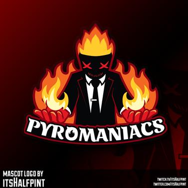 PyroMik3f mascot logo Illustration | Avatar | Logo Design | Emotes | itsHalfpint