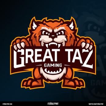 GreatTaz- Mascot Logo Tiger Devil Graphic Design Esports Cool