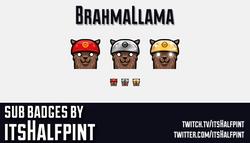 Brahmallama-SubBadgesCard