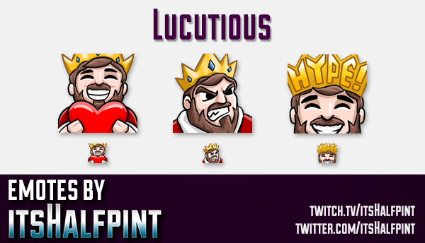 Lucutious | Twitch Emotes | Cute Emotes | Custom Twitch Emotes | Emote Commissions | itsHalfpint | M