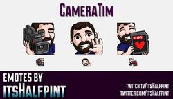 CameraTim  | Twitch Emotes | Cute Emotes | Custom Twitch Emotes | Emote Commissions | itsHalfpint |