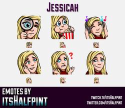 Jessicah  | Twitch Emotes | Cute Emotes | Custom Twitch Emotes | Emote Commissions | itsHalfpint | M