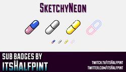 SketchyNeon-SubBadges