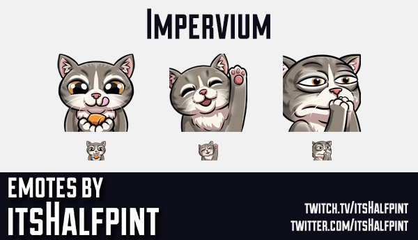 Impervium | Twitch Emotes | Cute Emotes | Custom Twitch Emotes | Emote Commissions | itsHalfpint | M