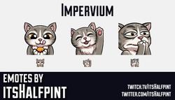 Impervium | Twitch Emotes | Cute Emotes | Custom Twitch Emotes | Emote Commissions | itsHalfpint | M