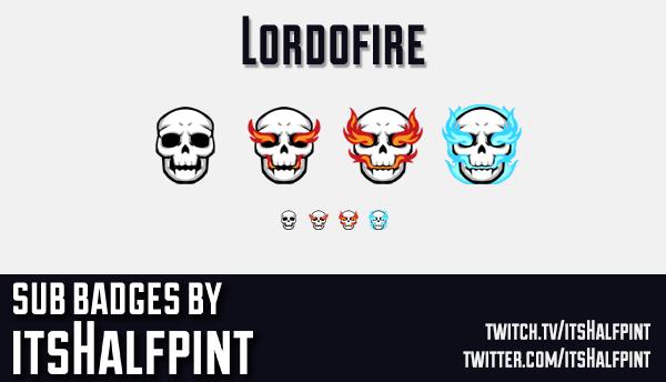 Lordofire | Twitch Sub Badges | Bit Badg