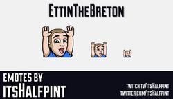 EttinTheBreton | Twitch Emotes | Cute Emotes | Custom Twitch Emotes | Emote Commissions | itsHalfpin