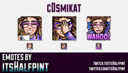 c0smikat | Twitch Emotes | Cute Emotes | Custom Twitch Emotes | Emote Commissions | itsHalfpint | Mi