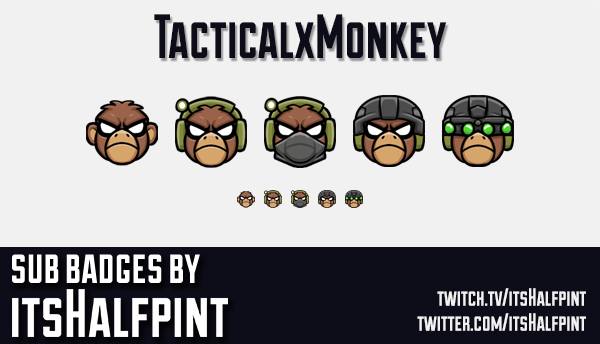 TacticalxMonkey | Twitch Sub Badges | Bi