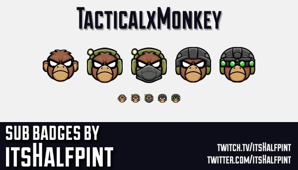 TacticalxMonkey | Twitch Sub Badges | Bi