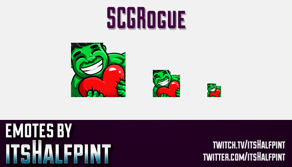 SCGRogue | Twitch Emotes | Cute Emotes | Custom Twitch Emotes | Emote Commissions | itsHalfpint | Mi