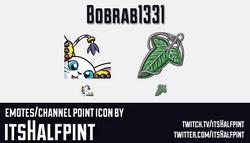 Bobrab1331  | Twitch Emotes | Cute Emotes | Custom Twitch Emotes | Emote Commissions | itsHalfpint |
