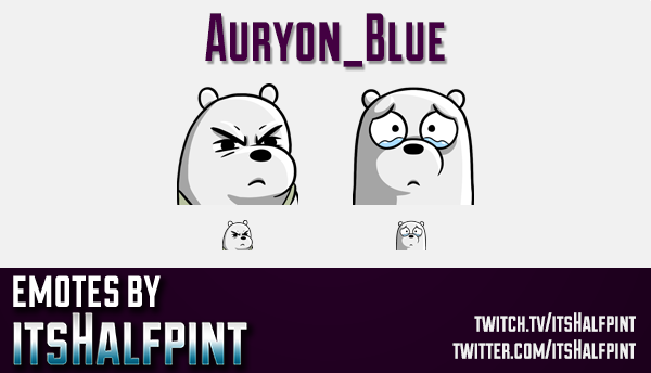 Auryon_Blue  | Twitch Emotes | Cute Emotes | Custom Twitch Emotes | Emote Commissions | itsHalfpint