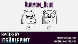Auryon_Blue  | Twitch Emotes | Cute Emotes | Custom Twitch Emotes | Emote Commissions | itsHalfpint