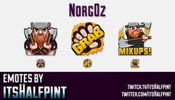 Norgoz | Twitch Emotes | Cute Emotes | Custom Twitch Emotes | Emote Commissions | itsHalfpint | Mixe