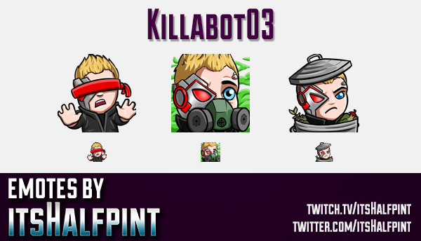 Killabot03  | Twitch Emotes | Cute Emotes | Custom Twitch Emotes | Emote Commissions | itsHalfpint |