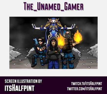 The_Unamed_Gamer- itsHalfpint twitch emote artist   sub bit badge   avatar logo illustration   custom character screen