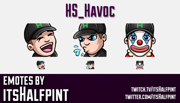 HS_Havoc  | Twitch Emotes | Cute Emotes | Custom Twitch Emotes | Emote Commissions | itsHalfpint | M