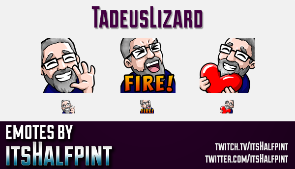 TadeusLizard  | Twitch Emotes | Cute Emotes | Custom Twitch Emotes | Emote Commissions | itsHalfpint