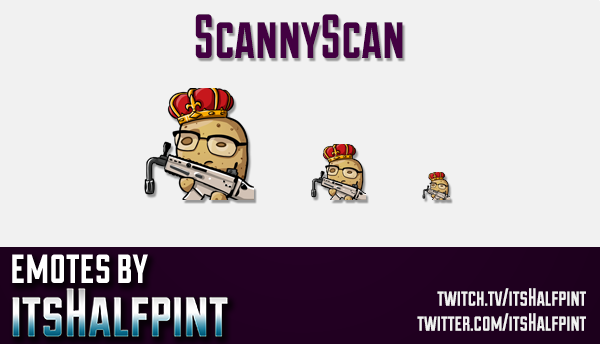 ScannyScan | Twitch Emotes | Cute Emotes | Custom Twitch Emotes | Emote Commissions | itsHalfpint |
