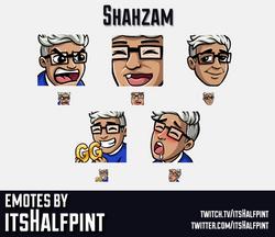 Shahzam | Twitch Emotes | Cute Emotes | Custom Twitch Emotes | Emote Commissions | itsHalfpint | Mix